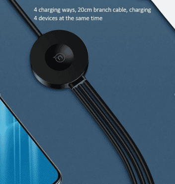 USAMS US-SJ219 U5 1.5m 3 In 1 USB to 8 Pin + Micro USB + USB-C / Type-C Braided Data Sync Charging Cable (Black)