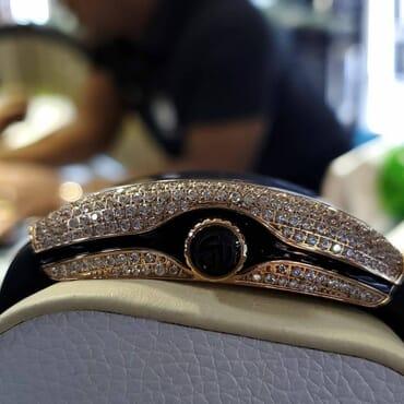 High Quality Vanguard Dragon King Iced Bezel Watch