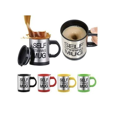 Automatic Self Stirring Stainless Steel Coffee Mug