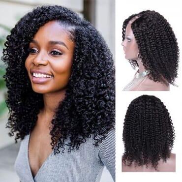 Kinky Curly Virgin Hair Kinky Hair With Closure 14 Inches