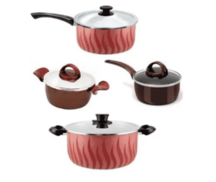 Tefal Kitchen Bundle Non Stick - 20cm Pot + 20cm Sautcepan + 22cm Pot + 16cm