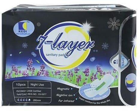7 Layers Special Sanitary Pad -Night Use -10 Packs (100 Pcs)