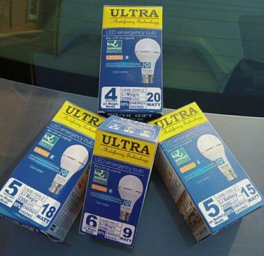 Ultra Rechargeable Bulb 15watts (Pin/Screw)