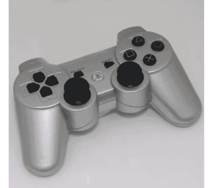 Sony Playstation 3 Controller - Silver & Free Charging Cable