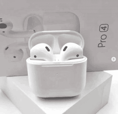 Pro4 Wireless Bluetooth Earbuds Headphones Rename Positioning GPS Low Power Sports In-Ear Pop-ups Earphones Headset - White
