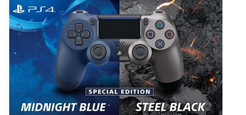 Original Ps4 Dualshock®4 Wireless Controller Version 2 Midnight Blue & Steel Black
