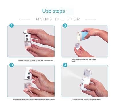 Mini Nano Mist Sprayer Facial Body Nebulizer Steamer 30ml
