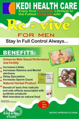 Revive: Quick Ejaculation And Weak Erection Solution