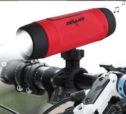 Zealot Bluetooth Speaker S1 Wireless Speakers Outdoor Bicycle Portable Power Bank+LED Mount+Carabiner Subwoofer Bass