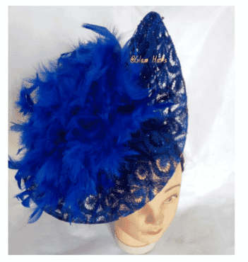 Glam Royal Fascinator - Blue