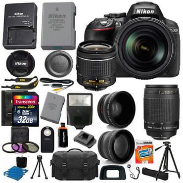 Nikon D5300 24.2MP Digital SLR Camera with full and additional accessories