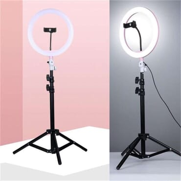 OSQ 26/30/33/36cm Beauty Mirror Live Ringlight with 2.1M Stand and Phone Holder