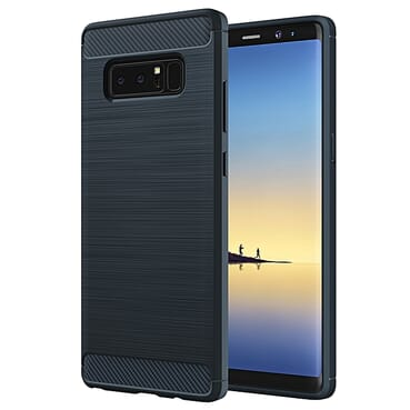 Samsung Note 8 Case Carbon Fiber Back Cover Case-BLUE