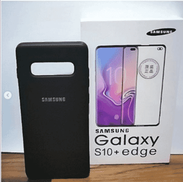 Samsung Official Galaxy S10 Plus Silicone Cover + Screen Protector