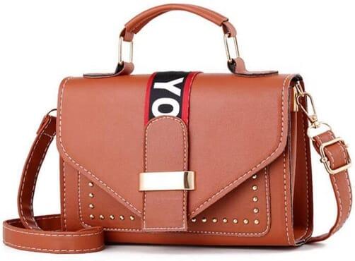 Women's Cross-Body Studded Handbag