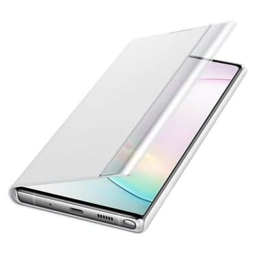 Flip Cover Official Samsung Galaxy Note 10 Plus Clear View Case - (silver)