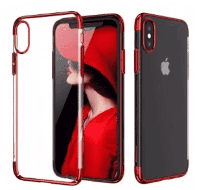 Baseus Glitter Ultra Slim Pc Back Case For iPhone X - Red