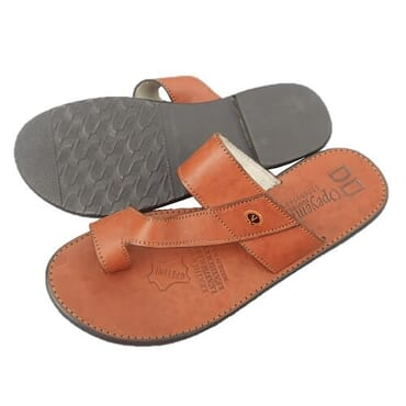 Nediva Men Brown Leather Slippers - PL7