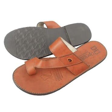 Nediva Men Brown Leather Slippers - PL7