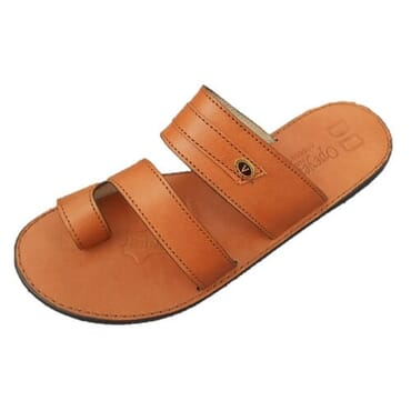 Nediva Men Brown Leather Slippers - PL8