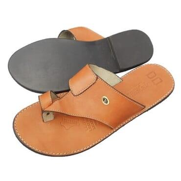 Nediva Men Brown Leather Slippers - PL9