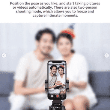 Tracking Camera Smart Auto take picture Phone Holder BPTZ2
