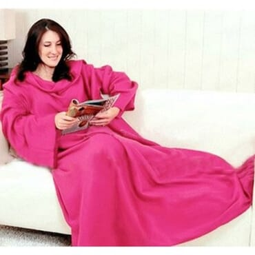 Snuggle Wrap Fleece Blanket With Sleeves