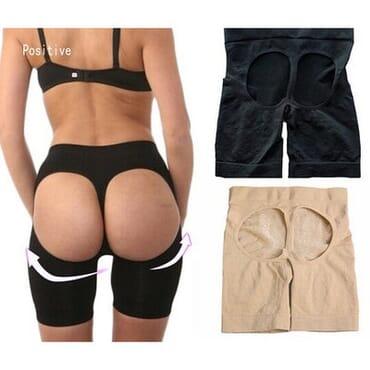 Thigh Butt Lifter Shapewear - Black & Beige - 2 In 1 - SIZE M