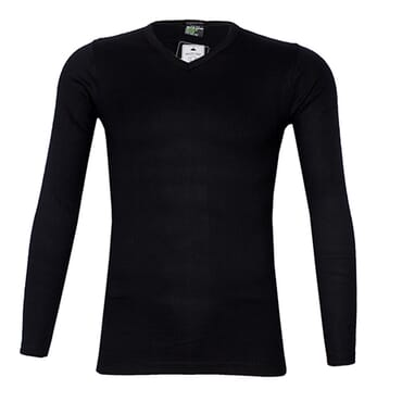 POLICE 1008 FREESIZE PLAIN BLACK MEDIUM LONG SLEEVE T-SHIRT