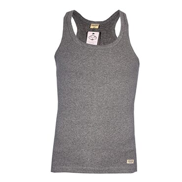 POLICE KB.011 HALF BACK PLAIN GREY MEDIUM UNISEX TANK TO