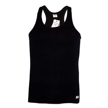 POLICE KB.011 HALF BACK PLAIN BLACK MEDIUM UNISEX TANK TOP