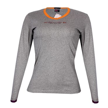 POLICE G.273 BODYGIRL GREY MEDIUM PRINTED LONG SLEEVE T-SHIRT