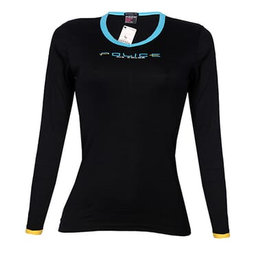 POLICE G.273 BODYGIRL BLACK MEDIUM PRINTED LONG SLEEVE T-SHIRT