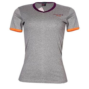 POLICE G.272 BODYGIRL GREY MEDIUM PRINTED SHORT SLEEVE T-SHIRT
