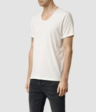 BYC 1100 MENS WHITE U-NECK T-SHIRT M---XL