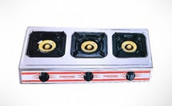 Eurosonic Stainless Steel 3 Gas Burner Stove