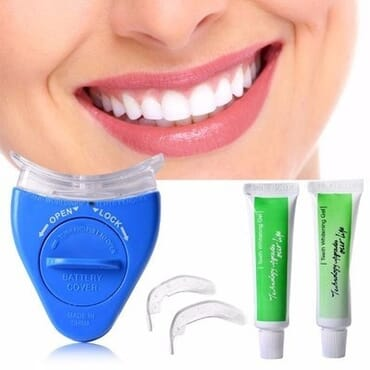 White light whitening teeth kit