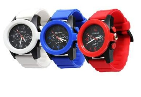 ERNAO 3 in 1 SILICONE STRAP UNISEX WRIST WATCH
