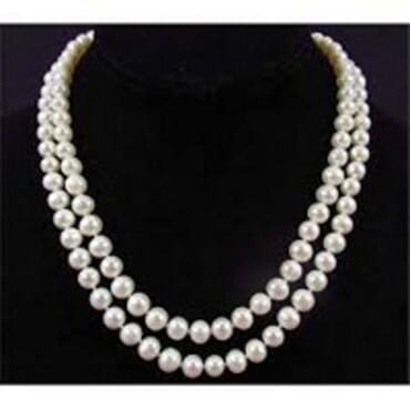 TWO LAYER WHITE PEARL NECKLACE