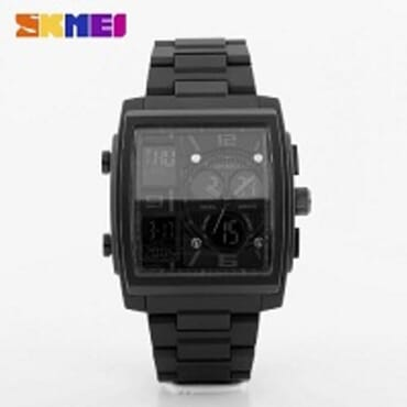 SKMEI BLACK 1274 DIGITAL SWIM SILICON STRAP SPORT WATCH