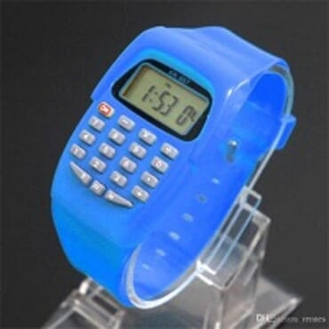 KID CALCULATOR WRIST WATCH WITH ASSORTED COLORS