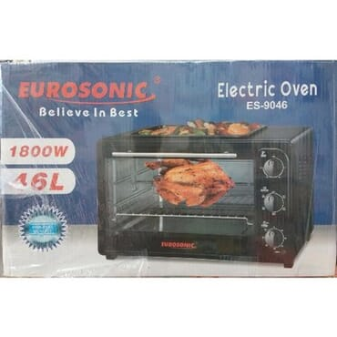 Eurosonic 46L Electric Oven with Baking Pan Top