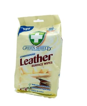 Green Shield Leather Wipes 50s