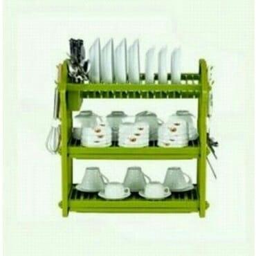3 Tier Plastic Plate Rack