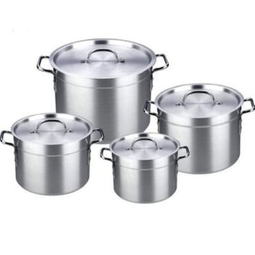 Hoffner Aluminium Pots Set - 4 Pieces