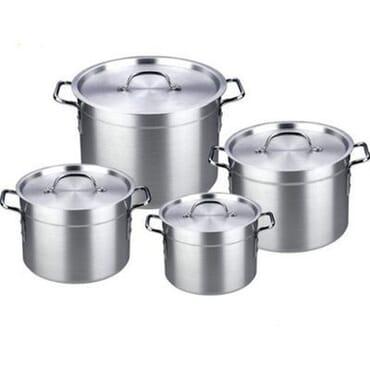 Hoffner Aluminium Pots Set - 4 Pieces