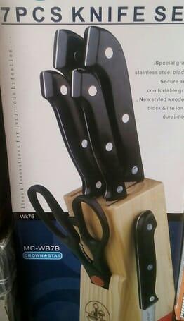 7pcs kitchen duluxe stainless steel knife