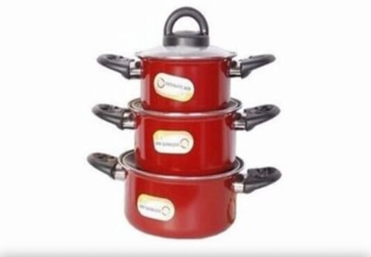 6pcs non stick casseroles set