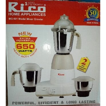 Rico 750 Watts Mixer Grinder & Blender(MG 1803)