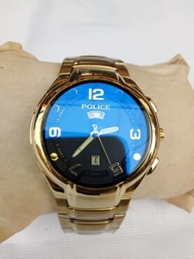 Police Gold Design Watch
